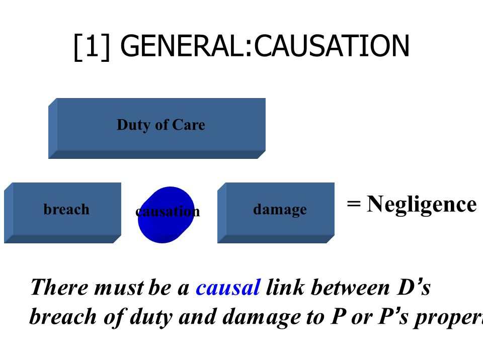 [1] GENERAL:CAUSATION = Negligence